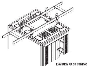 10506-712 - Chatsworth Cable Runway to Cabinet Elevation Kit; 2