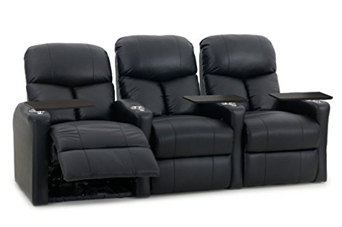 Octane Seating BOLT-R3SM-BND-BL Bolt XS400 Leather Home Theater Recliner Set (Row of 3)