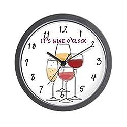CafePress It's Wine O'clock Unique Decorative 10 Wall Clock