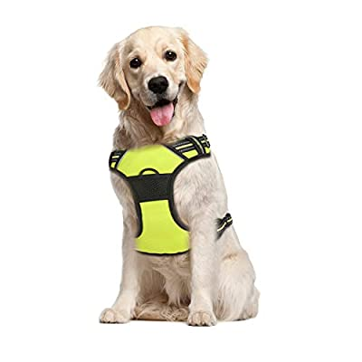 Dog No Pull Pet Harness - Easy Walk Freedom Small Medium Large Dog Harness Adjustable Outdoor Reflective 1000D Oxford Material, No Chock Easy Control