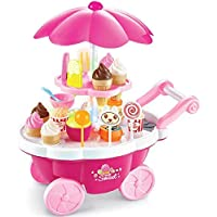 ZZ ZONEX Supermarket Pretend Play Set – 39 Pcs Simulation Small Carts Girl Mini Candy Cart Ice Cream Shop Supermarket Children 's Toys Playing Home Baby Toys