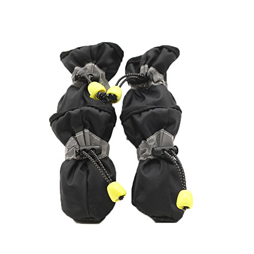 Ynport Pet Dog Shoes Waterproof Summer Spring Rain Boots for Small-Size Terriers 4pcs per Set (Westies Boots)