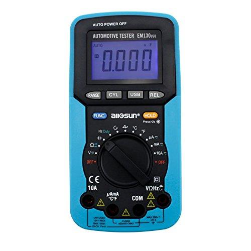 Automotive Digital Multimeter : All sun handheld auto range automotive multimeter