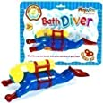 Childrens Bath Time Fun Scuba Wind Up Water Diver Toddler Toys
