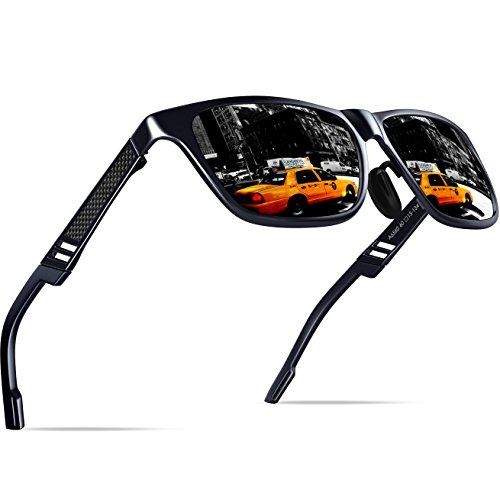 de de aluminio sol magnesio polarizadas KITHDIA deportiva los y la para de viaje hombres gafas Negro conducción pwdxXCCqtn