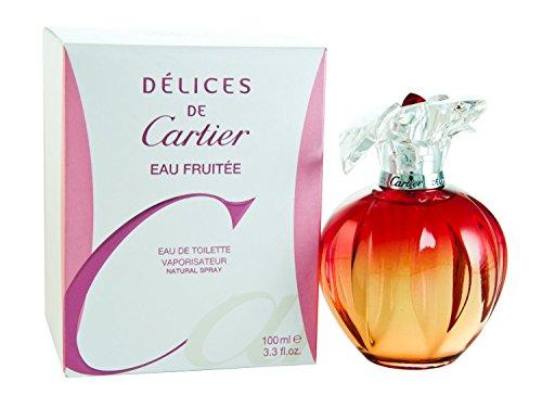 Delices De Cartier Eau Fruitee by Cartier For Women. Eau De Toilette Spray 3.3 Ounce Delices De Cartier Eau Fruitee