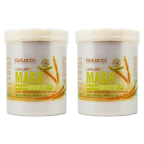 Salerm Wheat Germ Mask (Mascarilla Capilar) 33.7oz / Liter ''Pack of 2'' by Salerm (Image #1)