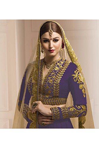 Da Facioun Womens Blue Striking Lehenga Choli With Embroidery Lace Work 80828