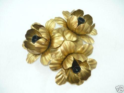 Plafoniere Con Foglie : Plafoniera in ferro battuto con foglie color oro a 3 luci boccioli