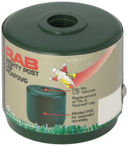 "RAB Lighting MCAP3VG Mighty Post Cap for 3"" Pipe, 2-7/8"" OD, Verde Green"