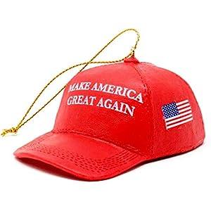 """Best Epic Trends 41zREdWu1BL._SS300_ KSA Donald Trump """"Make America Great Again"""" Red Cap Ornament"""