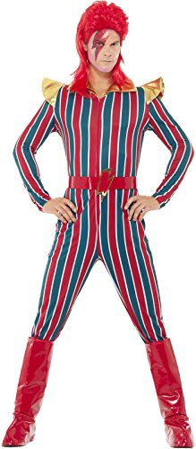 Bowie Costume (Smiffy's Men's Space Superstar Costume, Multi,)