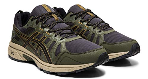 ASICS Gel-Venture 7 Men's Running Shoes, Black/Tan Presidio, 10 M US (Best Running Shoes For Obese)