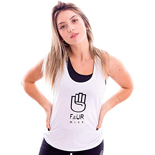 Regata Feminina Fourmixx Básica Branca Cor:branco;tamanho:g