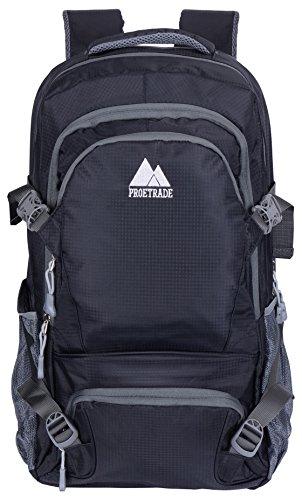 ProEtrade Multipurpose Large Oversize Water Resistant Outdoor School Backpack (Black)