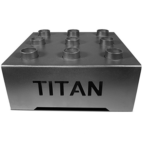 "Titan Fitness Olympic Barbell 9 Bar Holder Vertical Storage Display Rack 18""x18"""