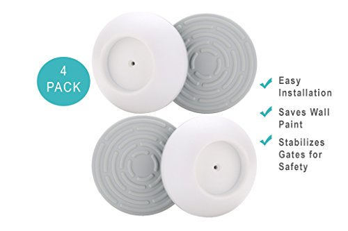 ESNTLS Baby Gate Wall Cups 4-Pack – Wall Pads Guards For Toddler & Pet Gates, Easy-To-Install Paint Savers For Pressure Gates, Wall Protector Set For Walls & More – Perfect Baby Shower Gift