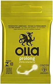 Preservativo Camisinha Olla Prolong - 3 Unidades, Olla, Branco, 3un, pacote de 3