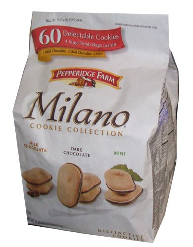 Pepperidge Farm Milano Cookie Collection 60 Count Variety Pack 1 Bag Milk Chocolate 2 Double Chocolate And 1 Mint Amazon Com Grocery Gourmet Food