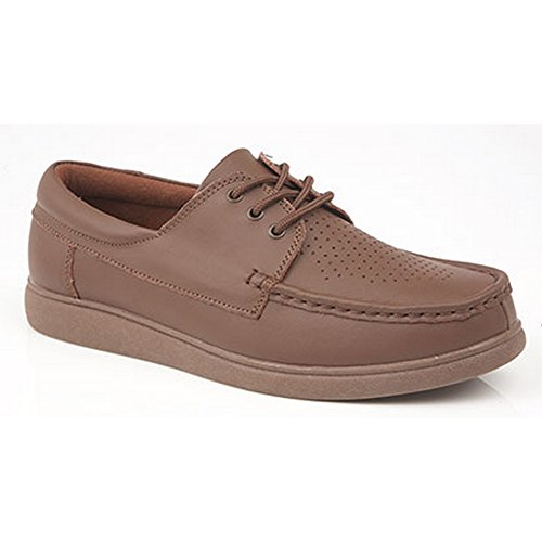Dek Adults/Unisex Lace Up Bowling Shoes Tan cv3iXPWU59