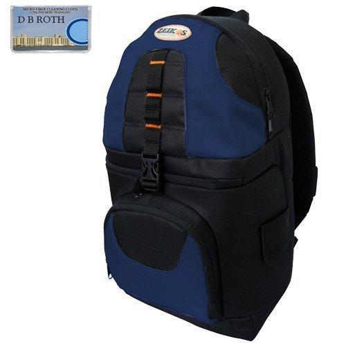 Deluxe Digital SLR Camera/Camcorder Sling Backpack (Black/Blue) For The Canon VIXIA XA10, HF S30, HF G10, FS40, FS400, HF M32, HF M400, HF M40, HF M41 Camcorder