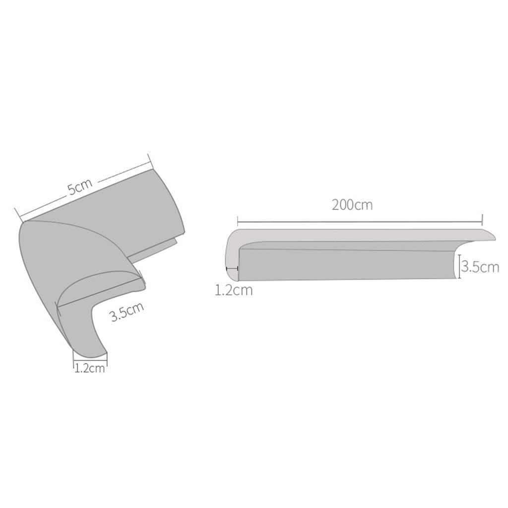 5 Colores Opcionales Color : Black, Size : 8M+16 Corner Guard Esponja Gruesa Tipo L Con Protector De Esquina Seguro Y Suave Con Cinta De Doble Cara AnSafe Protector De Bordes