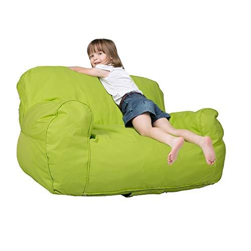"Price comparison product image Dporticus Mini Lounger Sofa,  Bean Bag Chair Self-Rebound Sponge Double Child Seat - 35.4"" x 19.7"" x 19.7"" Green"