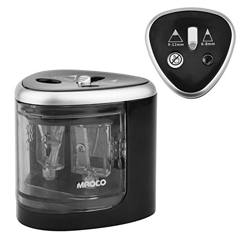 MROCO Pencil Sharpener Battery Operated Electric Pencil Shar