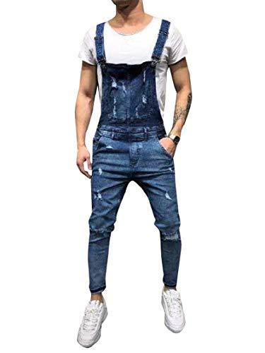 [해외]Fieer 남성 옥스포드 전체 슬링 서 스 펜더 세련 된 작업 바지 / Fieer Men`s Oxford Overall Sling Suspenders Stylish Work Pant