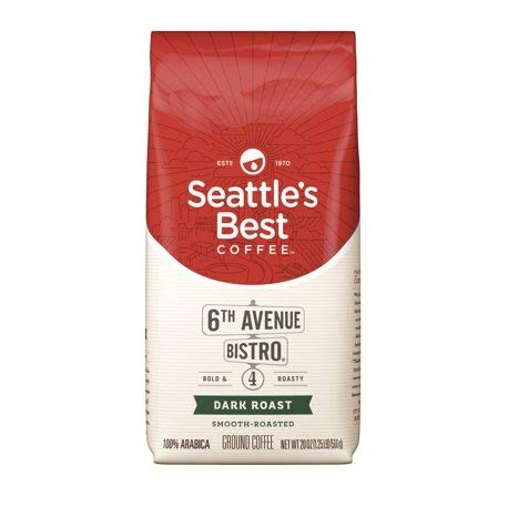 (Seattle's Best Coffee 6th Avenue Bistro (Previously Signature Blend No. 4) Dark Roast Ground Coffee, 20-Ounce Bag)