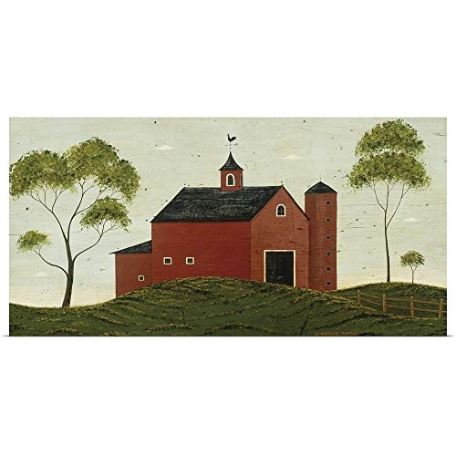 GREATBIGCANVAS Poster Print Entitled Red Barn by Warren Kimble 24