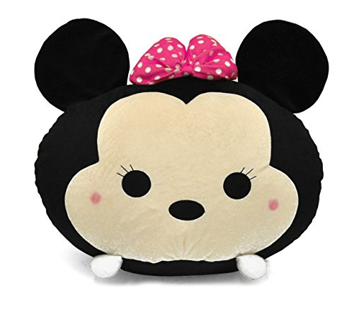 Disney Tsum 19'' Minnie Mouse Round Bean Bag, Black by Disney