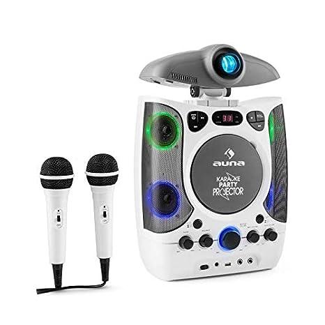 Auna Kara Projectura • Set Karaoke para niños • proyector Video LCD • 2 micrófonos dinámicos