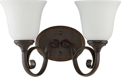 Mocha Bronze Two Light - Craftmade 24202-MB-WG Barrett Place 2 Light Vanity Incandescent, Mocha Bronze