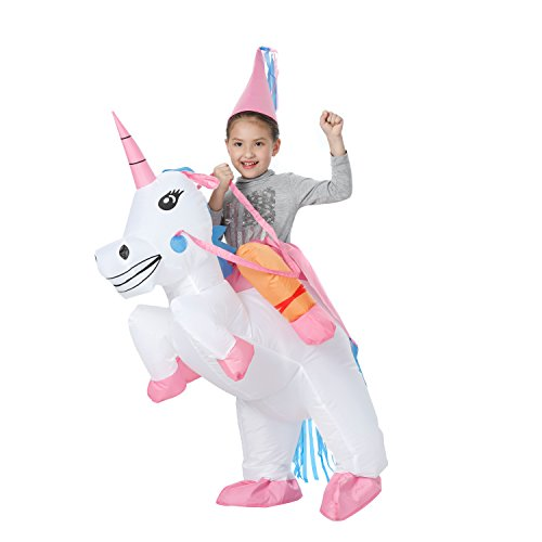 YEAHBEER Unicorn Costume Inflatable Suit Halloween Cosplay Fantasy Costumes Adult/Kids (Z-Children Unicorn) -