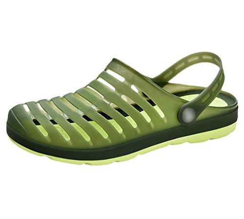 YiLianDa Sommer Sandale Herren Clog Breathable Strand Aqua Walking Anti-Rutsch Sommer Hausschuhe Grün