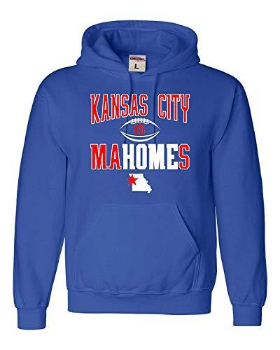 (Grahad Adult Kansas City is Mahomes Sweatshirt Hoodie Royal Blue)