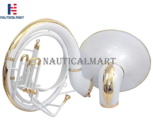 Sousaphone Bb Big Bell 25'' White With Bag by NauticalMart (Image #4)