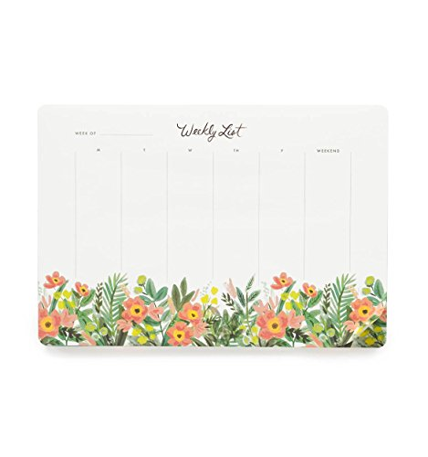 Rifle Paper Co. Honeydew Floral Weekly Planner Desk Pad Mouse Pad
