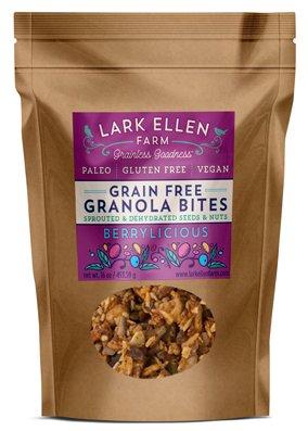Lark Ellen Farm Grain Free Paleo Organic Granola Bites (Berrylicious, 1 LB)