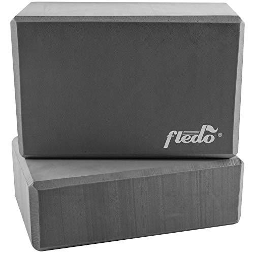 Fledo Yoga Blocks (Set of 2) 9'x6'x4' - EVA Foam Brick, Featherweight and Comfy - Provides Stability...
