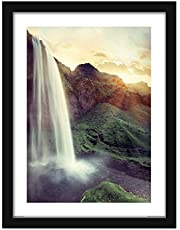 Poster Hub Feng Shui - Water Fall Forest - Movement Flow And Relaxation Art Decor