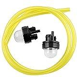 New 2x Snap In Primer Bulb Bulbs With 2 Feet Fuel Line for RYOBI 725R 767R 775R 705R 825R by Amhousejoy