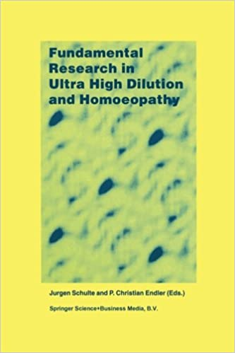 Book Fundamental Research in Ultra High Dilution and Homoeopathy