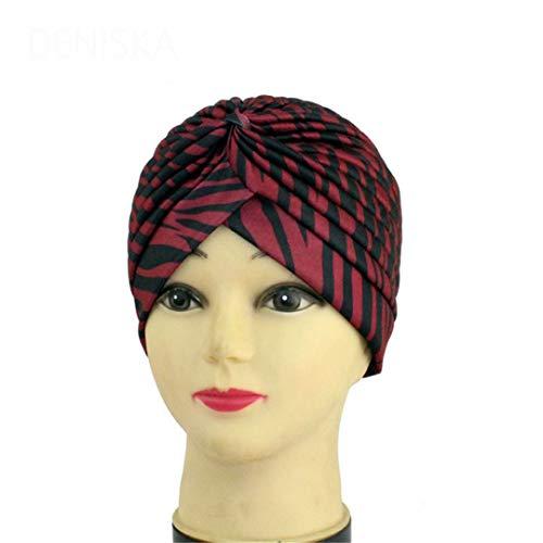 Zebra Newsboy - Women Zebra Skin Turban Hat Cap Hijab Hairband Bandana Wrap Hair Fancy Zebra Indian Cap 06 Size fits all