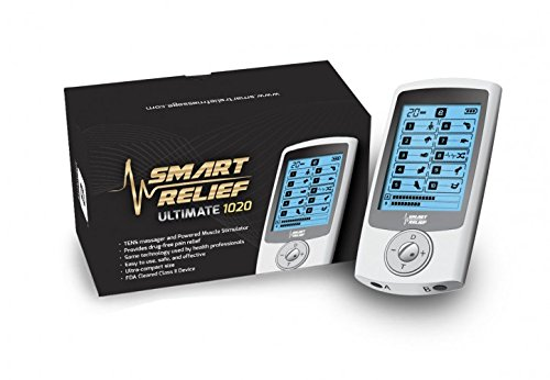 Smart Relief Ultimate 1020 OTC TENS & EMS Unit for Electro Pulse Pain Relief Therapy - 10 Massage Therapies - FDA Cleared (New 2017 Model)