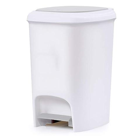Papelera con pedal de basura, cesta de basura para baño ...
