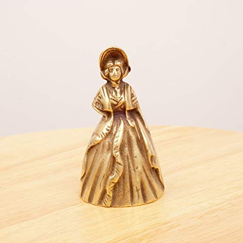 Restored by UKARETRO Lady Bell/Victorian Lady/Woman Figurine || Vintage Solid Brass