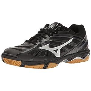 Mizuno Women's Wave Hurricane 3 Volleyball Shoe, Black/Silver, 7 B US