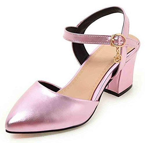 Easemax Donna Elegante Punta Stretta Cinturino Alla Caviglia Fibbia Con Cinturino Alla Caviglia E Tacco Medio
